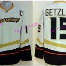 Anaheim Ducks Hockey Jerseys #15 Ryan Getzlaf Jersey White Stitched Ice Hockey Jerseys C Patch