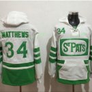 Toronto Maple Leafs hoodie 34 Auston Matthews White 100th 2017 Centennial Classic  hockey Jersey