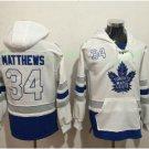 Toronto Maple Leafs hoodie 34 Auston Matthews White Blue 100th 2017 Centennial Classic Jersey