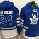 Toronto Maple Leafs hoodie 34 Auston Matthews Blue 100th 2017 Centennial Classic Jersey