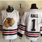 Chicago Blackhawks #1 Glenn Hall 2015 Ice Winter Jersey  Authentic Stitched