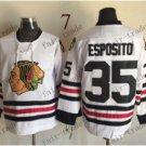 Chicago Blackhawks #35 Tony Esposito 2015 Ice Winter Jersey  Authentic Stitched