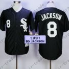 Bo Jackson Sox Jersey Chicago White Sox Uniforms Black 100% Stitched