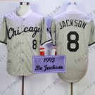 Bo Jackson Sox Jersey Chicago White Sox Uniforms Gray 100% Stitched