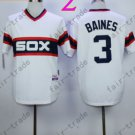 1983 Chicago White Sox Throwback Jersey 3 Harold Baines  Retro Jersey
