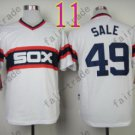 1983 Chicago White Sox Throwback Jersey #49 Chris Sale Retro Jersey