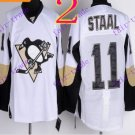 Stitched Pittsburgh Penguins #11 Jordan Staal White Hockey Jerseys Ice Winter Jersey