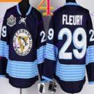 Stitched Pittsburgh Penguins Andre Fleury #29 Black Hockey Jerseys Ice Winter Jersey