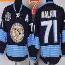 Stitched Pittsburgh Penguins #71 Evgeni Malkin Black Hockey Jerseys Ice Winter Jersey