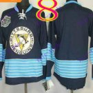 Stitched Pittsburgh Penguins Black Hockey Jerseys Ice Winter Jersey