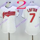 cleveland indians #7 Kenny Lofton White 2016 Baseball Jersey  Authentic Stitched