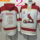 st. louis cardinals #6 Stan Musial pullover hoodie #2016 Baseball Hooded Sweatshirt Jerseys