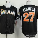 miami marlins #27 giancarlo stanton Black 2015 Baseball Jersey Authentic Stitched