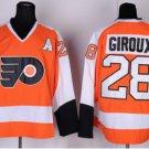 Philadelphia Flyers 2017 Stadium Series Jerseys Hockey #28 Claude Girouxn White Orange