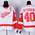 2017 Centennial Classic Detroit Red Wings Hockey 40 Henrik Zetterberg Jersey Home Red White Stitched