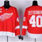 2017 Centennial Classic Detroit Red Wings Hockey 40 Henrik Zetterberg Jersey Home Red Stitched