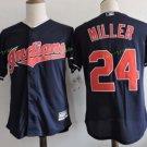 Cleveland Indians #24 Manny Ramirez Blue Throwback Stitched Jersey