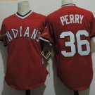 Cleveland Indians #36 Gaylord Perry Red Throwback Stitched Jersey