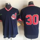 Cleveland Indians #30 Tyler Naquin Blue Throwback Stitched Jersey