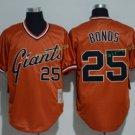San Francisco Giants #25 Barry Bonds Orange Throwback