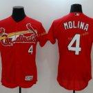 St. Louis Cardinals #4 Yadier Molina Red  Flexbase Jerseys