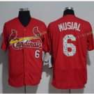 St. Louis Cardinals #6 Stan Musial Red Flexbase Jerseys