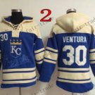 Kansas City Royals #30 Yordano Ventura Baseball Hooded Stitched Old Time Hoodies Sweatshirt Jerseys
