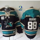 San Jose Sharks #88 brent burns Hockey Hooded Stitched Old Time Hoodies Sweatshirt Jerseys