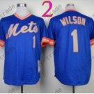 Mookie Wilson Jersey 2015 New York Mets Jerseys Throwback Blue