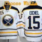 Buffalo Sabres Jersey 15 Jack Eichel Ice Hockey Jerseys Throwback White Jerseys