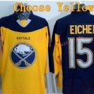 Buffalo Sabres Jersey 15 Jack Eichel Ice Hockey Jerseys Throwback Yellow Jerseys