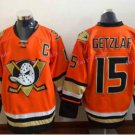 Anaheim Ducks Hockey Jerseys #15 Ryan Getzlaf Orange Alternate Stitched Ice