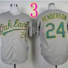 Rickey Henderson Jersey Oakland Athletics 1990 World Series Grey Throwback Vintage