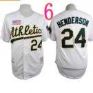Rickey Henderson Jersey Oakland Athletics 1990 World Series White Throwback Vintage