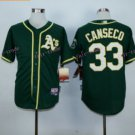 Jose Canseco Jersey 1989 World Series Patch Home Green Oakland Athletics Cool Base