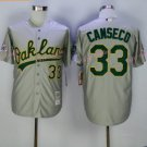 Jose Canseco Jersey 1989 World Series Patch Home Grey Oakland Athletics Cool Base