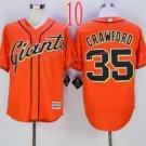 San Francisco 35 Brandon Crawford Orange Jerseys 35 SF Baseball Jersey W/Champion Path