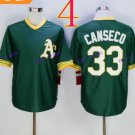 Oakland Athletics #33 jose canseco Green 2015 Baseball Jersey  Authentic Stitched