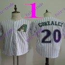 Arizona Diamondbacks #20 Luis Gonzalez White 2016 Baseball Jersey Authentic Stitched