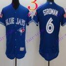 2016 Flexbase Stitched Toronto Blue Jays 6 Stroman Blue Flag Jersey