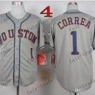 Houston Astros #1 Carlos Correa Grey 2015 Baseball Jersey Authentic Stitched