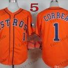 Houston Astros #1 Carlos Correa Orange 2015 Baseball Jersey Authentic Stitched