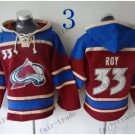 Colorado Avalanche #33 Patrick Roy Hockey Hooded Stitched Old Time Hoodies Sweatshirt Jerseys