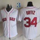 Boston Red White #34 david ortiz White 2015 Baseball Jersey Authentic Stitched