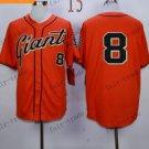 San Francisco Giants  #8 PENCE Orange 2015 Baseball Jersey Authentic Stitched