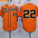 San Francisco Giants #22 Will Clark Orange 2015 Baseball Jersey Authentic Stitched