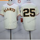 San Francisco Giants #25 Barry Bonds White 2015 Baseball Jersey Authentic Stitched