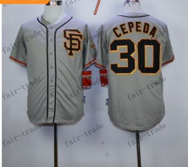 San Francisco Giants #30 Orlando Cepeda Gray 2015 Baseball Jersey Authentic Stitched