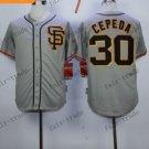 San Francisco Giants #30 Orlando Cepeda Gray 2015 Baseball Jersey Authentic Stitched