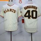 San Francisco Giants #40 Madison Bumgarner White 2015 Baseball Jersey Authentic Stitched
